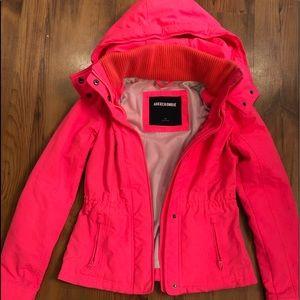 Abercrombie hot pink jacket